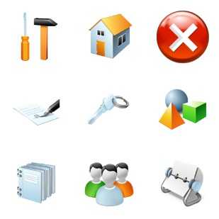 Software icon sets preview