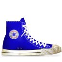 dirty, converse, blue icon