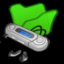 Folder green mymusic icon