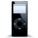 ipod, mp3 player, black, nano icon