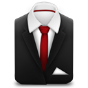 Red, Suit, Tie icon