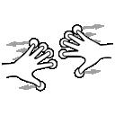 finger, gestureworks, five, split icon