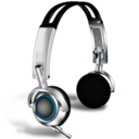 Headphones with microphones icon