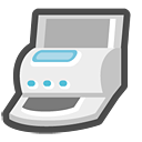 printer, fax, print, and icon