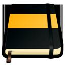 moleskine, orange icon