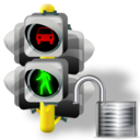 Lights, Traffic, Unlock icon