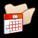 Beige, Folder, Scheduled, Tasks icon