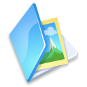 folder image blue icon