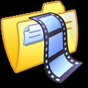 Folder Yellow Video 2 icon