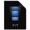 file, movie, film, avi, video icon