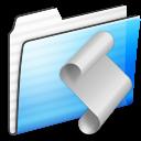 script,folder,stripe icon