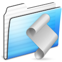 stripe, folder, script icon