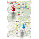 map, navigation, directions, gps, location icon