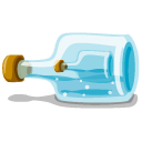 Bottle in the bottle icon