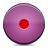 record, button, pink icon