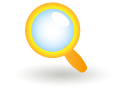 search, glass, magnifying icon