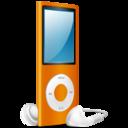 iPod Nano orange on icon