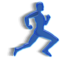 running, man, animation icon