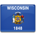 wisconsin,flag icon