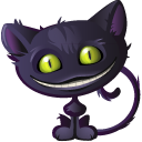 Cat Cheshire Halloween icon