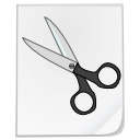 file, scissors, cut icon