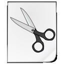 file, scissors, cut icon