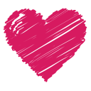 heart, favorite, health, like, scribble, love, bookmark icon