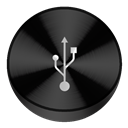 Black, Usb icon