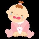 Baby, Crying, Girl icon