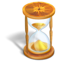 time, wait, hourglass icon