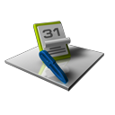 date, edit, schedule, write, writing, calendar icon