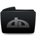 Black, Deviantart, Folder icon