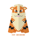 arcanine, pokemon, kanto, fire icon