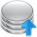 upload, db, increase, ascending, rise, up, ascend, database, arrow, commit, comit icon