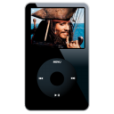 black, ipod, alternate, video icon