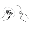 rotate, anchor, gestureworks icon