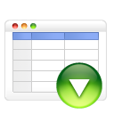 table down icon