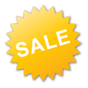 yellow, badge, label, sale icon