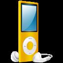 Ipod, Nano, On, Yellow icon