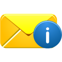 Email, Info icon