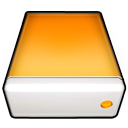 drive, orange icon