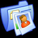 Folder Blue Pics 1 icon