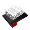 Documents, My, Pile, Red icon