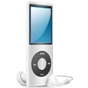 Ipod, Nano, On, Silver icon