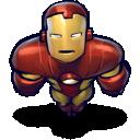 man, flying, iron icon