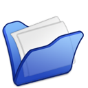 folder, blue, mydocuments icon