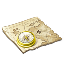 navigate, map icon