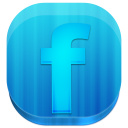 block, facebook, rounded icon