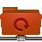 remote, folder, backup, red icon