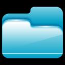 folder,open,blue icon